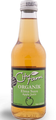 City Farm Organik %100 Elma Suyu 250 ml