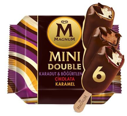 Magnum Mini Double Çikolata, Karadut  & Böğürtlen, Karamel 6'lı