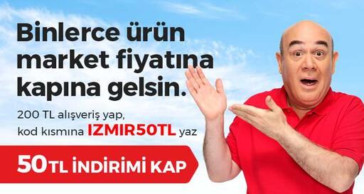 İzmir'e Özel 200 TL ve Üzeri Alışverişine 50 TL Anında İndirim!