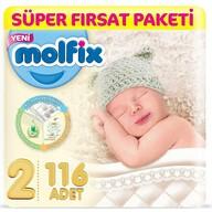 Molfix Mini Süper Fırsat Paketi (Kutu) 116'lı