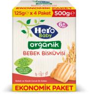 Hero Baby Organik Bebek Bisküvisi 500g