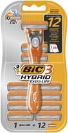 Bic 3 Hybrid Extra Life Tıraş Bıçağı 12 Kartuşlu 3 Bıçaklı