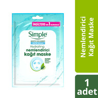 Simple Water Boost Nemlendirici Kağıt Maske 21 ml