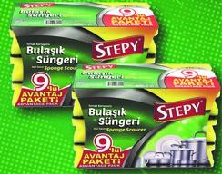 Stepy Premium 9'lu Oluklu Sünger Avantaj Paket