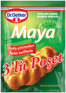 Dr. Oetker Instant Maya 3'lü 30 gr