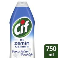 Cif Jel Zemin Uzmanı Beyaz Sabun Ferahlığı Zemin Temizleyici 750 ml