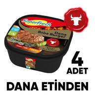 Dondurulmuş Superfresh Baba Burger 360 gr