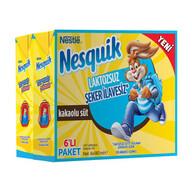 Nesquik Laktozsuz ve Şeker İlavesiz Kakaolu Süt 6x180 ml