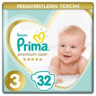 Prima Bebek Bezi Premium Care 3 Beden 32 Adet Midi