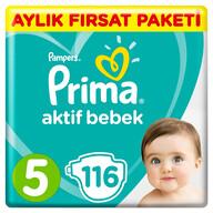 Prima Aktif Bebek 5 Beden 116 Adet Junior Aylık Fırsat Paketi