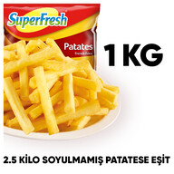 Dondurulmuş Superfresh Patates 1 kg