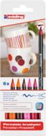 Edding Porselen Kalemi 6'lı Set-Sıcak Renkler
