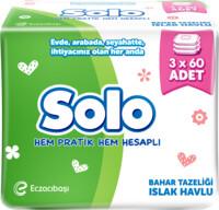 Solo Islak Havlu 60'lı 3'lü paket