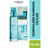 L'Oreal Paris Nem Terapisi Aloe Vera Suyu Normalden Karmaya Ciltler için Su Bazlı Günlük Bakım