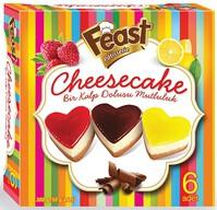 Dondurulmuş Feast Cheesecake Kalp 6x80 gr