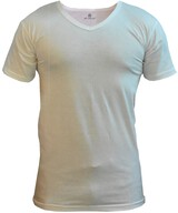 Çift Kaplan Beyaz Erkek Tişört XL Beden