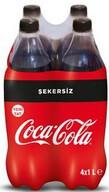 Coca-Cola Şekersiz 4x1 L