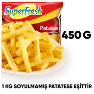 Dondurulmuş Superfresh Patates 450 gr
