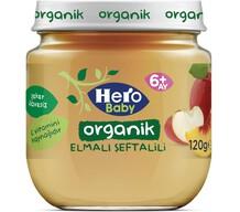 Hero Baby Organik Elma Şeftali 120 gr