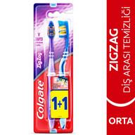 Colgate Zig Zag Orta Diş Fırçası 1+1