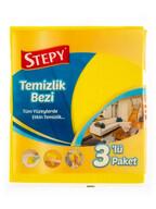 Stepy 3'lü % 30 Microfiberli Temizlik Bezi