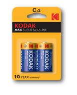 Kodak Max Super Alkalin Orta Pil C 2'li
