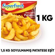 Dondurulmuş Superfresh Elma Dilim Patates 1 kg
