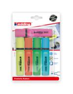 Edding Fosforlu Kalem PVC Kutu 4+1 Hediye