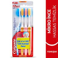 Colgate Mikro İnce Compact Diş Fırçası Yumuşak 4 Adet