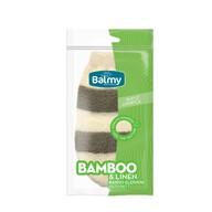Balmy Bambu-Keten Banyo Eldiveni