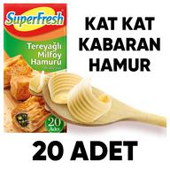 Dondurulmuş Superfresh Tereyağlı Milföy 1 kg