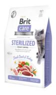Brit Care Tahılsız Taze Ördek ve Hindili Kısırlaştırılmış Kilo Kontrolü Kedi Maması 2 kg