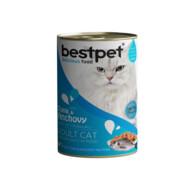 Bestpet Ton Balıklı ve Sardalyalı Yetişkin Kedi Yaş Mama 400 g