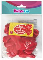Seni Seviyorum Baskılı Kırmızı Renk Kalp Balon 10'lu
