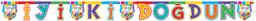 Multicolour İyiki Doğdun Yazılı Kağıt Set