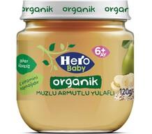 Hero Baby Organik Muzlu Armut Yulaflı 120 gr
