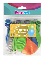 Metalik Karışık Renkler Balon 20'li