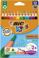 Bic Kids Evolution Üçgen Jumbo Kuru Boya Kalemi 12'li Kutu