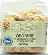 City Farm Organik Kavrulmuş Tuzlu İç Yer Fıstığı 200 gr