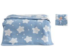 Dolce Bonita Home Pamuklu Bebek Battaniyesi Açık Mavi