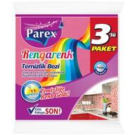 Parex Rengarenk Temizlik Bezi 3'lü