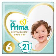Prima Bebek Bezi Premium Care 6 Beden 21 Adet Ekstra Large