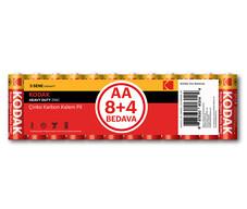 Kodak Çinko Karbon Kalem Pil AA 12'li
