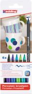 Edding Porselen Kalemi 6'lı Set-Soğuk Renkler