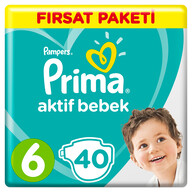 Prima Aktif Bebek 6 Ekstra Large 40'lı