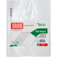Cassa Plastik Telli Dosya Beyaz 50'li