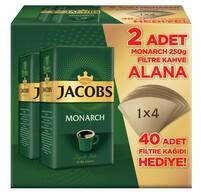 Jacobs Monarch Filtre Kahve 2x250 gr Filtre Kağıdı Hediyeli