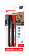 Edding Koli Kalemi 2'li Blister Siyah - Kırmızı