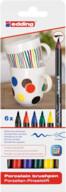 Edding Porselen Kalemi 6'lı Set-Standart Renkler