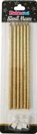 Simli Uzun Mum Gold 6'lı